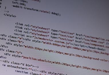 HTMLコードの写真